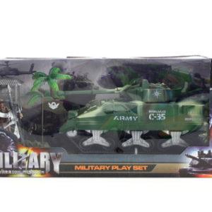 Vojenský tank s doplňky sada