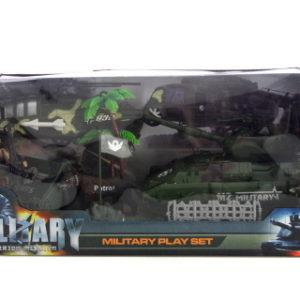 Vojenský tank a vrtulník sada