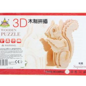 Puzzle dřevěné 3D Veverka