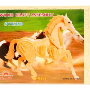 Puzzle dřevěné 3D kůň