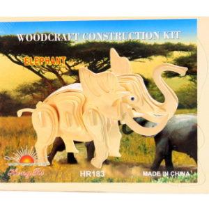 Puzzle dřevěné 3D slon
