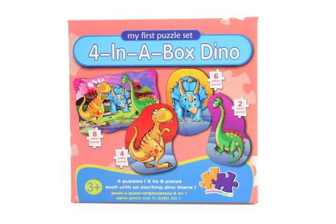 Puzzle dinosauři 4v1