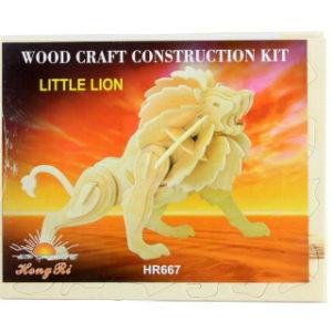 Puzzle dřevěné 3D Lev