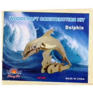 Puzzle dřevěné 3D Delfín