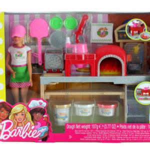 Barbie Vaření a pečení pizza herní set s panenkou FHR09