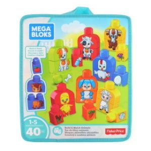Mega Bloks Sestav si zvířátka (40ks) FLT36
