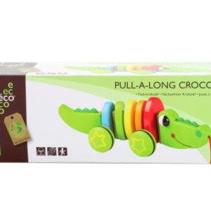 Dřevěný tahací krokodýl