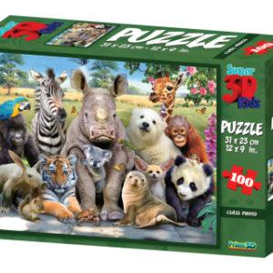 3D Puzzle Divočina 100 dílků