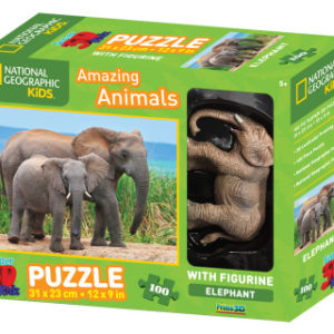 3D Puzzle Slon 100 dílků figurka