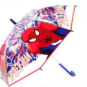 Deštník Spiderman průhledný vystřelovací