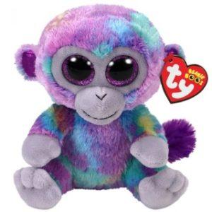 Beanie Boos ZURI 15 cm - barevná opička