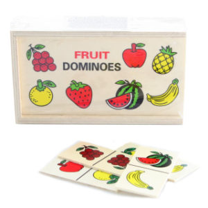 Dřevěné domino ovoce