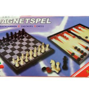 Šachy, dáma, vrhcáby magnetické