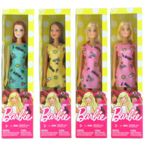 Barbie 5 druhů v šatech T7439