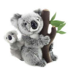 Plyš Koala s mládětem