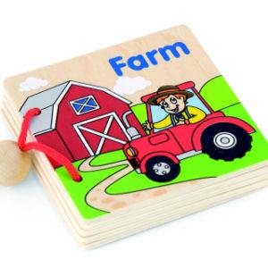 Dřevěná knížka pro nejmenší
