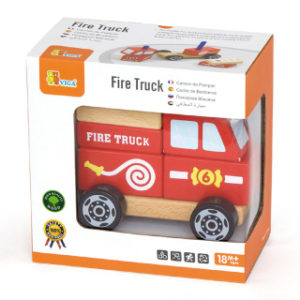 Dřevěná skládačka - hasiči