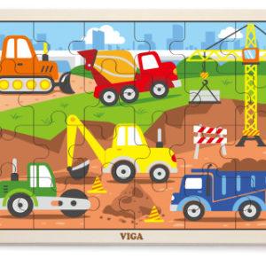 Dřevěné puzzle 24 dílků - stavba