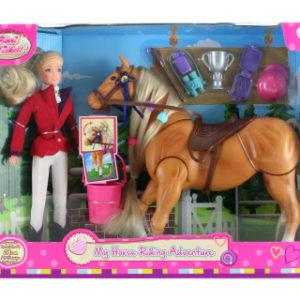 Panenka žokejka s koněm