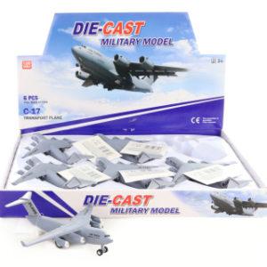 Letadlo kovové 6/bal