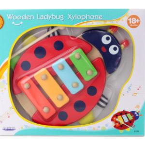 Dřevěný xylofon beruška