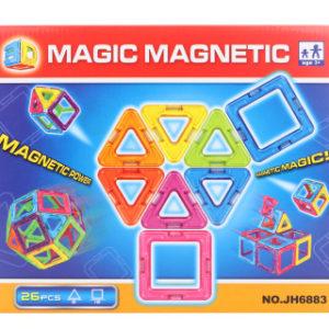 Magnetická stavebnice 26 ks